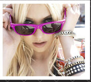 Taylor momsen material girl campaign sunglasses