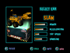 Twisted Metal - Small Brawl - Slam carsel