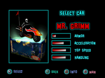 Twisted Metal - Small Brawl - Grimm carsel