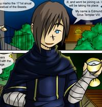 Edmund Sirus revealing his name