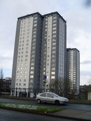 Highrise flats in Cardonald in 2009