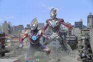 Ultraman orb and ultraman x