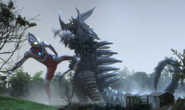 Tyrant v Ultraman Tiga in Ginga