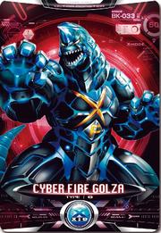 Ultraman X Cyber Gorg Fire Golza Card