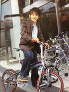 Hiroshi and bike