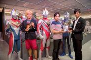 Takeshi Tsu, Takeshi Yoshi & Hassei with their Ultras