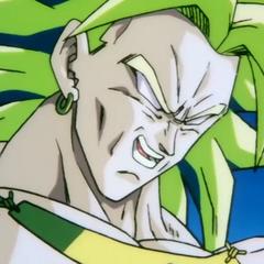 Legendary Super Saiyan Broly confronts Goku