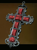 Jeweled Silver Cross