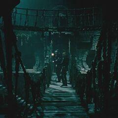 A bridge inside the prison.