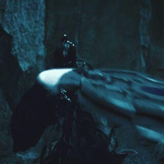 Shurikens fired from Sonja's sword