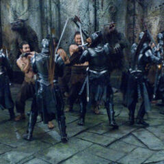 Lycans fighting Vampire Death Dealers.