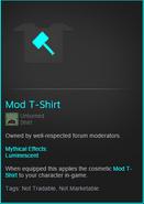 Mod T-Shirt Item Description