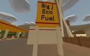 Seattle - Big J Eco Fuel sign