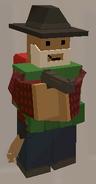 Player wearing Avenger