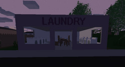 Laundry front