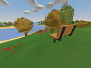 Souris Campground - far away bench