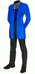 Uniform duty blue admiral medical tunic