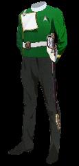 Uniform Dress General Green