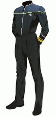 Uniform duty black rear admiral
