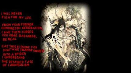 【UTAU Cover】The Spider and the Kitsune-like Lion (鬼蜘蛛ト狐ノ獅子ト)紫音月疾風X聖音Lucius【english sub】