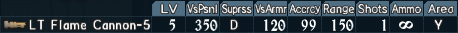 Flamethrower spec 1-5
