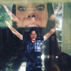 Ian Somerhalder September, Annie Wersching September 22, 2015