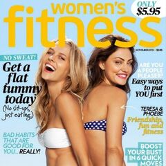 Women's Fitness — Nov 2012, United States, Phoebe Tonkin