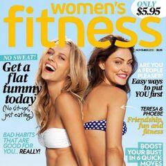 Women's Fitness — Nov 2012, United States, Phoebe Tonkin