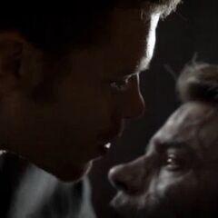 Klaus daggering Elijah