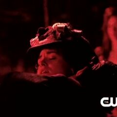 Damon drinking Samantha's blood