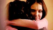 Bonnie and Elena hug