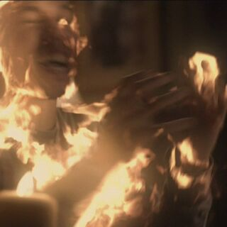 Luka being burnt to death