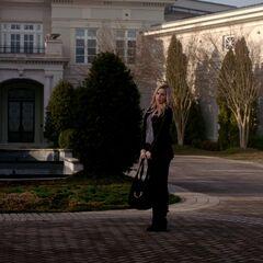 Rebekah on the driveway