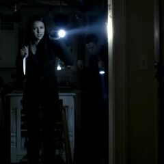 Same view – Elena and Matt went through the ??? room looking for traces of blood