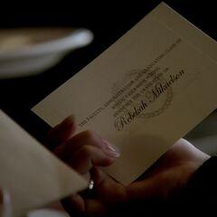Rebekah's graduation announcement.