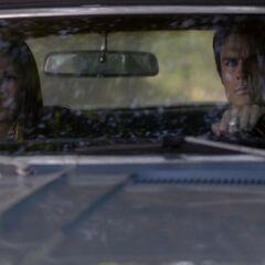 Damon and Elena drive to the Lake house