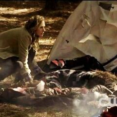 Jules trying to get rid of the dead bodies