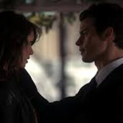 Elena and Elijah before the kiss