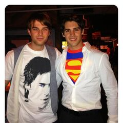Nathaniel Buzolic and Steven R. McQueen Halloween 2012