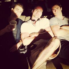 Paul Wesley, Jeffrey Hunt, Ian Somerhalder August 24, 2015