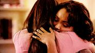 Bonnie and Elena hug..