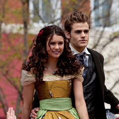 Elena and Stefan on the float