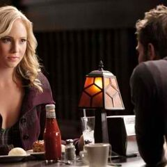 Stefan and Caroline at the Grill