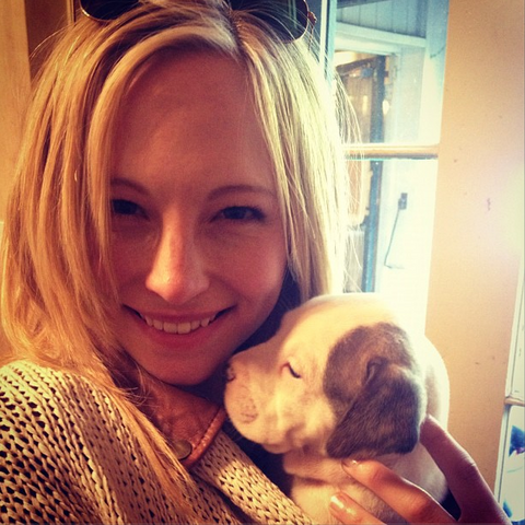 File:Candice with a puppy.png