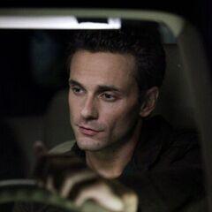 Logan driving.