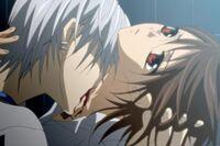 Zero drinking Yuki's Blood