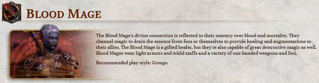 Blood mage official