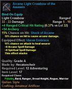 Arcane Light Crossbow of the Assassin