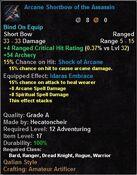 Arcane Shortbow of the Assassin