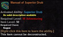 Manual of superior drub